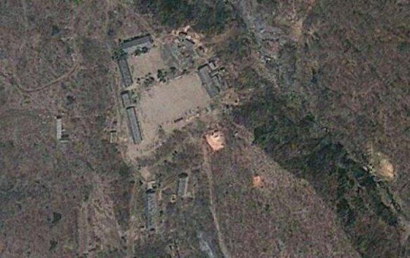 Imagine din satelit a poligonului nuclear de la Punggye-ri